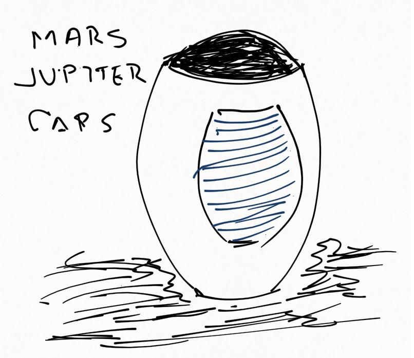 Cápsula Marciana con una fuente de energía en su interior capaz de convertir Júpiter en un segundo sol.